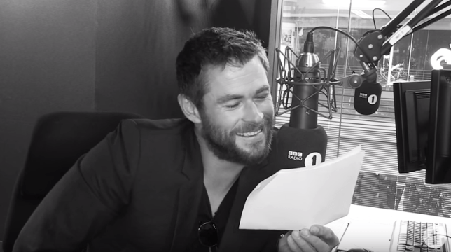 Chris Hemsworth BBC Radio 1