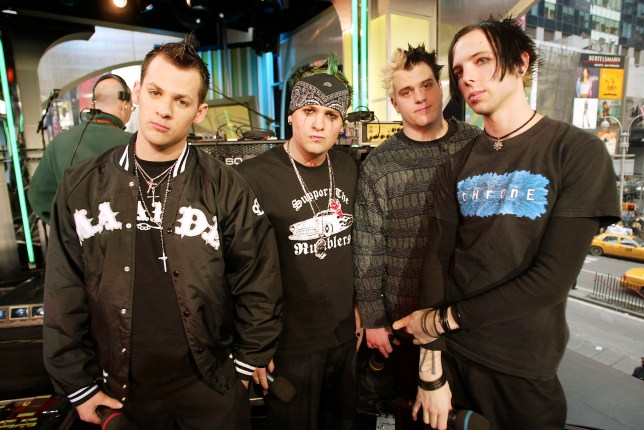 "Good Charlotte during ""Spankin' New Band Week"" on TRL and MTV2 at the MTV studios in New York City. January 17, 2003. Photo by Scott Gries/Getty Images"