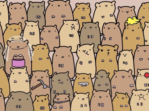 Can you find the potato in this horde of hamsters?