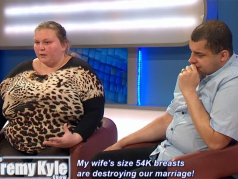 Jeremy Kyle guest with giant 54K breasts says she tried to cut them off