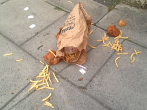 Devastating scenes in Cheltenham after someone drops entire KFC meal on the floor
