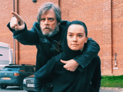 Star Wars actor Mark Hamill shares an adorable on-set photo in honour of Daisy Ridley's birthday