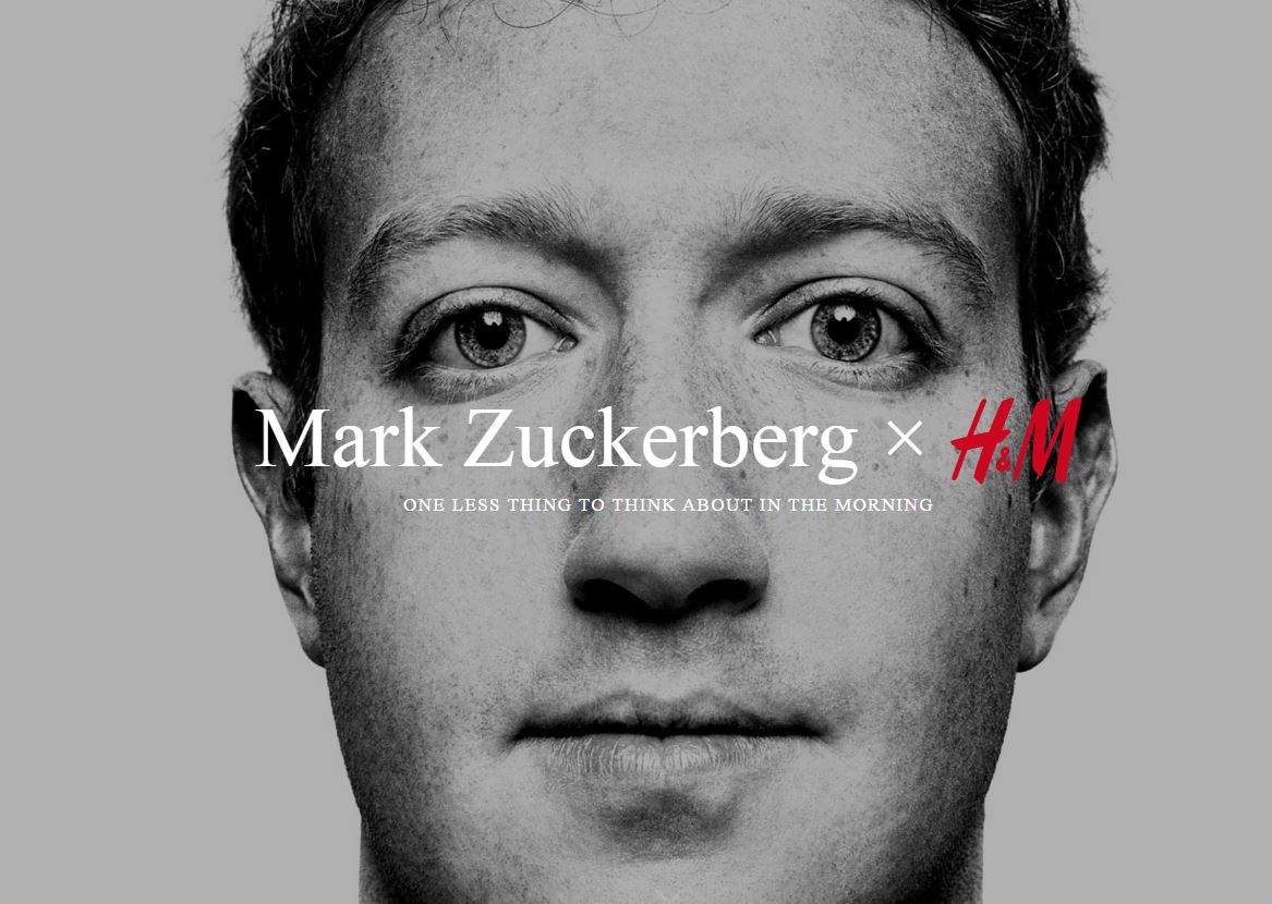 The Mark Zuckerberg x H&M collection is hands down the best April Fool of the day