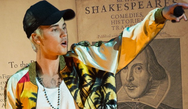 More U25s recognise Justin Bieber lyrics that William Shakespeare lines Credit: Getty