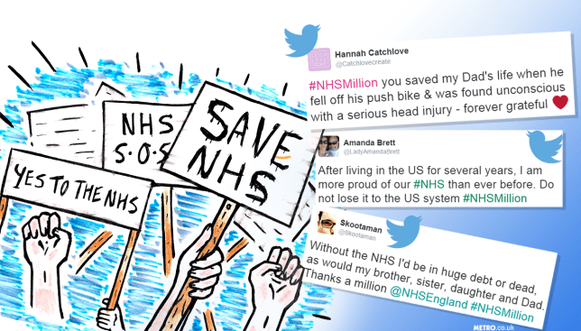 #NHSMillion - People are sharing reasons why the National Health Service should be protected Illustration: Charlotte Cockell - Credit: Myles Goode