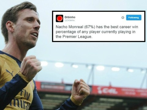 Arsenal's Nacho Monreal has highest win percentage of any current player in the Premier League
