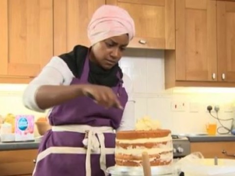 Has GBBO's Nadiya used eggs from caged hens to make the Queen's 90th birthday cake?