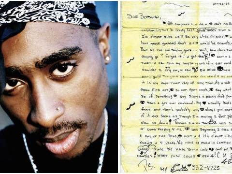 Tupac's 1988 high school love letter about loving Prince and candles goes up at £24,000