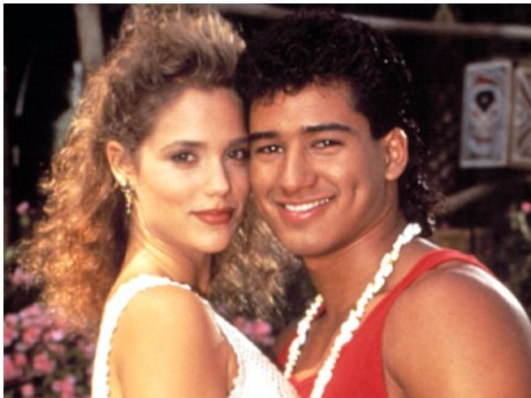 Saved By The Bell stars Mario Lopez and Elizabeth Berkley reunite… to have pies chucked at their faces