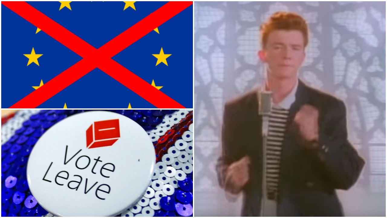 A bunch of pro-Brexit campaign URLs have been thoroughly Rickrolled