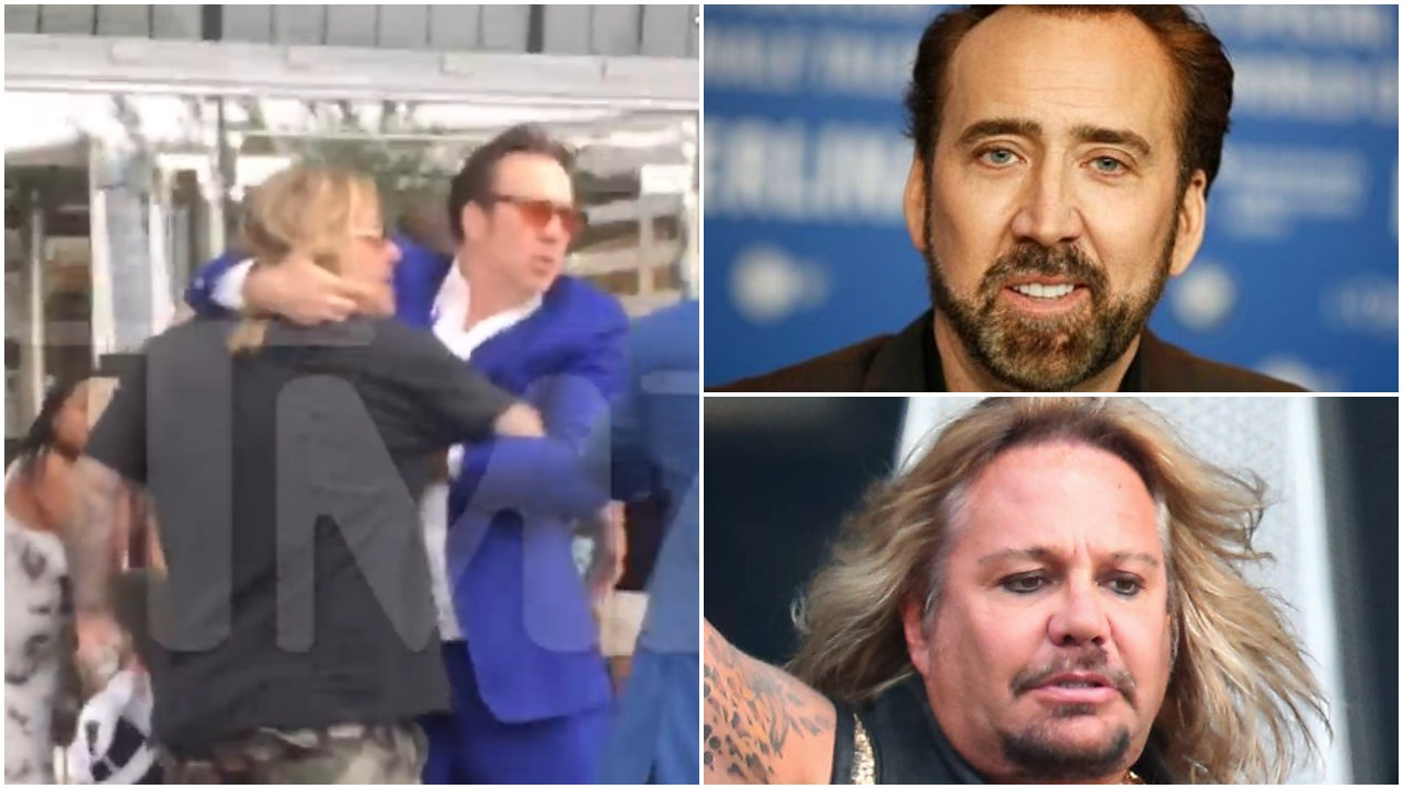 Nicolas Cage fights Motley Crue's Vince Neil after 'he assaulted a female fan who asked for an autograph'