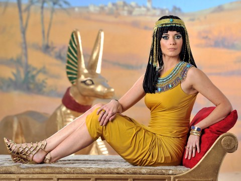 Countdown's Rachel Riley is walking like an Egyptian now as she's transformed into Cleopatra