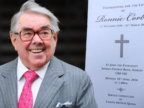 Ronnie Corbett funeral: Rob Brydon and David Walliams say farewell to comedian in South London