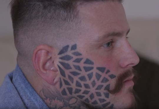 5cfa3e236 Man with face tattoo speaks out about how his life has changed since ...