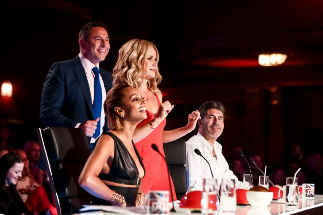 A THAMES/SYCO TV PRODUCTION FOR ITV UNDER STRICT EMBARGO UNTIL 00.01 ON SATURDAY 23 APRIL 2016. PICTURE SHOWS: JUDGES DANCING - BRIAN CLEMENTS TX03 on Saturday 23 APRIL 2016 BRITAIN'S GOT TALENT coming soon to ITV and ITV2 This Spring, the one and only BritainÕs Got Talent is back and celebrating 10 triumphant years of talent. The dream team of judges - Simon Cowell, Amanda Holden, Alesha Dixon and David Walliams - once again take their places on the panel, in search of the most astonishing and exhilarating talent around. They are joined by the nationÕs favourite TV duo Ant & Dec, who will be on hand to encourage, congratulate and commiserate the variety of acts whilst guiding the audience through the auditions. With thousands of people applying, viewers can expect to be amazed and astounded by the remarkable line-up of acts competing to be crowned this yearÕs winner and secure an incredible £250,000 and the opportunity to perform at the Royal Variety Performance 2016. The past decade has seen some of the most exciting and entertaining winners from Paul Potts to Diversity, Ashleigh & Pudsey to Attraction. And itÕs not only the winners who have delivered some of our most memorable moments on television; there was singer Susan Boyle, comedian Jack Carroll, magician Darcy Oake and of course, the dog that hypnotised Simon - to name a few. This yearÕs series is sure to provide many more must see moments.
