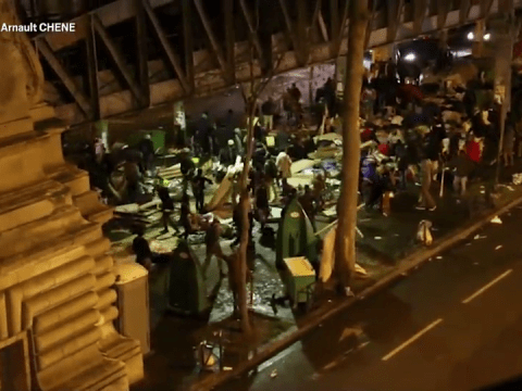 Migrants in violent clashes with far-right activists in Paris