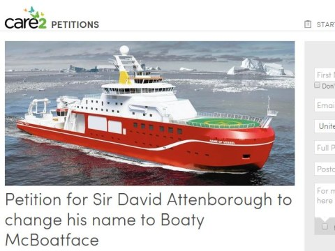Petition launched for Sir David Attenborough to change his name to Boaty McBoatface