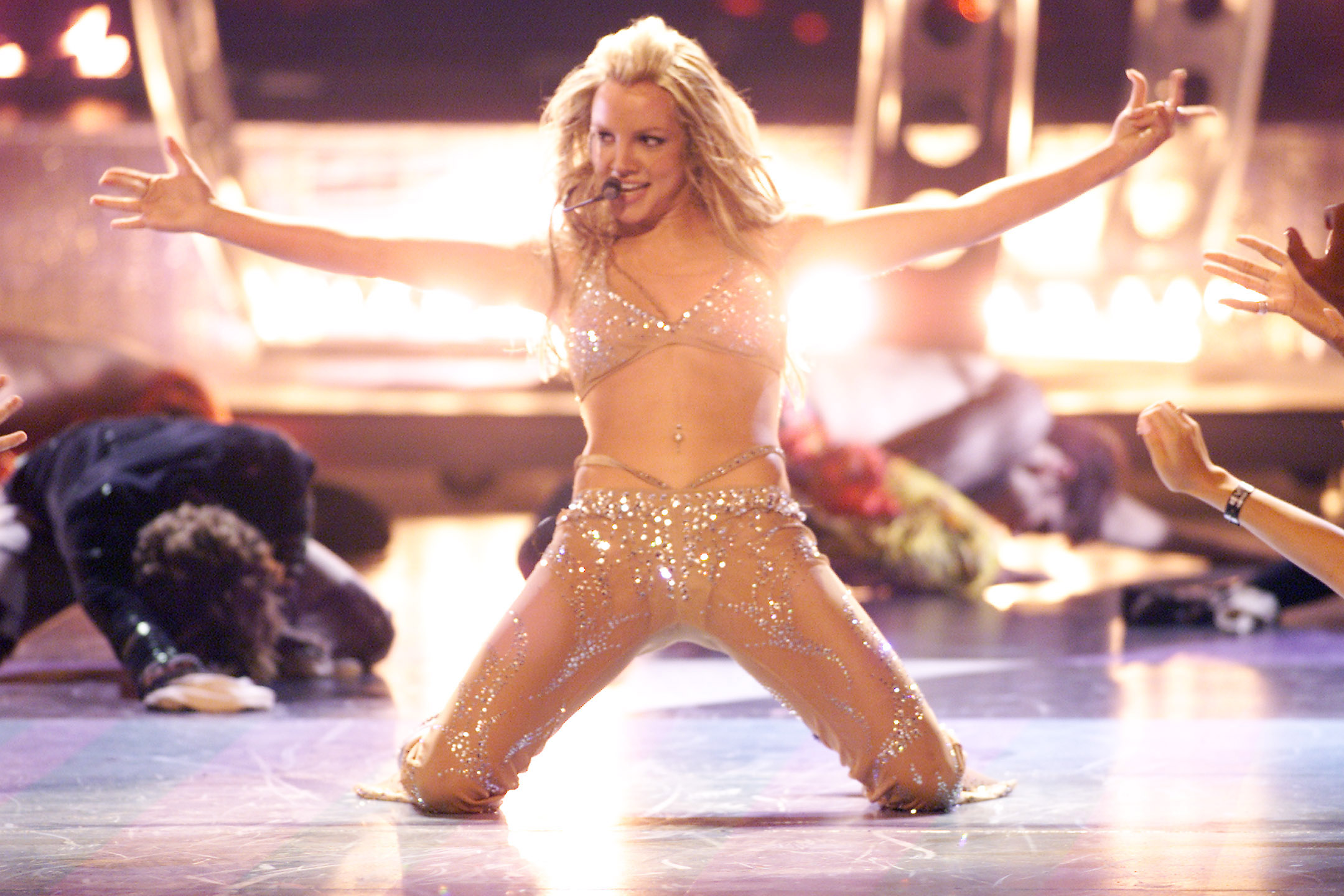 Britney Spears has been trying to catch a Pikachu or two (Picture: Scott Gries/Getty Images)
