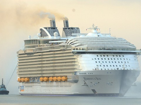 World's biggest cruise ship arrives in UK – and it's frickin massive!