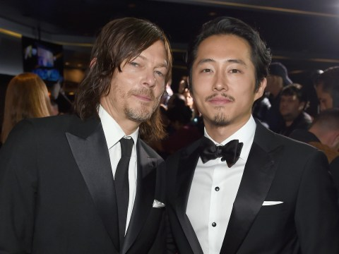 The Walking Dead's Norman Reedus and Steven Yeun help out car crash victims