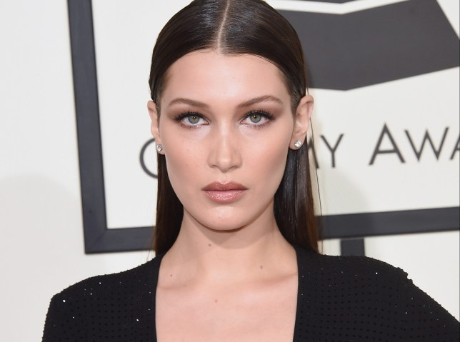 LOS ANGELES, CA - FEBRUARY 15: Model Bella Hadid attends The 58th GRAMMY Awards at Staples Center on February 15, 2016 in Los Angeles, California. (Photo by Jason Merritt/Getty Images)