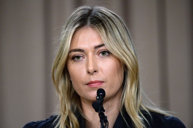 LOS ANGELES, CA - MARCH 7: Tennis player Maria Sharapova addresses the media regarding a failed drug test at the Australian Open at The LA Hotel Downtown on March 7, 2016 in Los Angeles, California. Sharapova, a five-time major champion, is currently the 7th ranked player on the WTA tour. Sharapova, withdrew from this week's BNP Paribas Open at Indian Wells due to injury. (Photo by Kevork Djansezian/Getty Images)