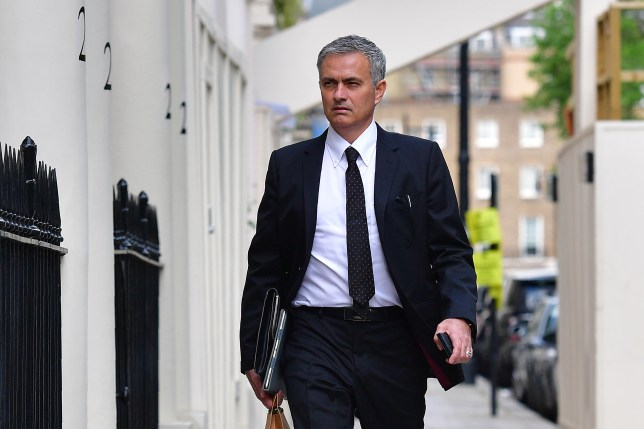 Jose Mourinho arrives back at his home in central London on May 26, 2016. The prospect of Jose Mourinho becoming Manchester United's next boss has unleashed hopes across Europe of a mega-spending spree by the English giants to get back into the elite. / AFP / LEON NEAL (Photo credit should read LEON NEAL/AFP/Getty Images)