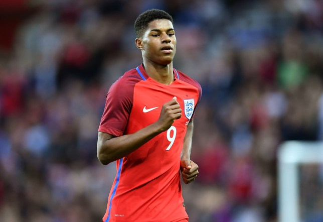 SUNDERLAND, ENGLAND - MAY 27: Marcus Rashford of England in action during the International Friendly match between England and Australia at Stadium of Light on May 27, 2016 in Sunderland, England. (Photo by Michael Regan - The FA/The FA via Getty Images)