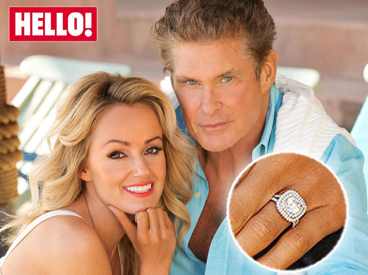 David Hasselhoff engaged to Welsh girlfriend Hayley Roberts