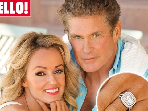 David Hasselhoff engaged to Welsh girlfriend Hayley Roberts