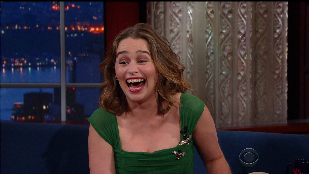 Emilia Clarke is overjoyed about junk equality (Picture: CBS/WENN.com)