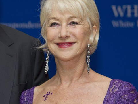 Helen Mirren wore a tattoo tribute to Prince at the White House Correspondents' dinner