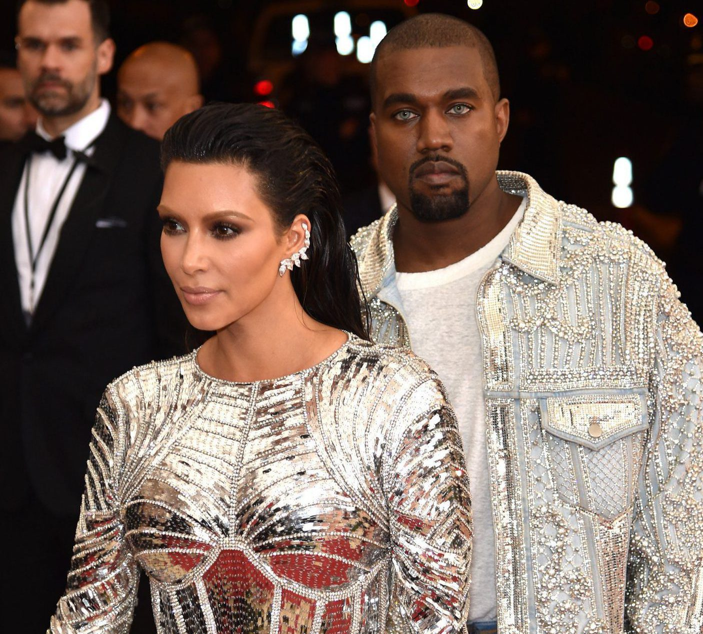 """NEW YORK, NY - MAY 02: Kim Kardashian West and Kanye West attend the """"Manus x Machina: Fashion In An Age Of Technology"""" Costume Institute Gala at Metropolitan Museum of Art on May 2, 2016 in New York City. (Photo by Dimitrios Kambouris/Getty Images)"""