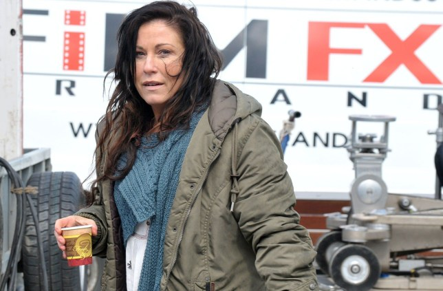 Picture Shows: Jessie Wallace May 05, 2016 Actress Jessie Wallace seemed to be happy to return to dry land as she and Irish actor Oisin Stack finish filming scenes out in the Irish sea for the new 'Eastenders' spin-off series called 'Redwater'. Oisin Stack is playing the part of Dermot in the series currently filming in Dublin, Ireland. Non Exclusive WORLDWIDE RIGHTS - NO IRELAND Pictures by : FameFlynet UK © 2016 Tel : +44 (0)20 3551 5049 Email : info@fameflynet.uk.com