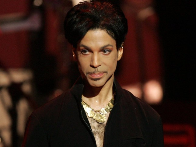 LOS ANGELES, CA - MARCH 19: Musician Prince is seen on stage at the 36th NAACP Image Awards at the Dorothy Chandler Pavilion on March 19, 2005 in Los Angeles, California. Prince was honored with the Vanguard Award. (Photo by Kevin Winter/Getty Images)