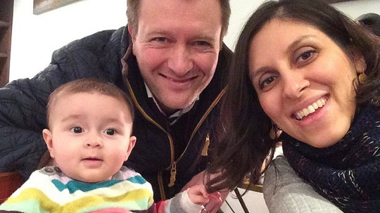 BEST QUALITY AVAILABLE Undated family handout photo of Nazanin Zaghari-Ratcliffe with her husband Richard Ratcliffe and their daughter Gabriella, as Mr Ratcliffe begged the Government to intervene and help free his charity worker wife after she was taken captive in Iran and separated from her infant daughter. PRESS ASSOCIATION Photo. Issue date: Monday May 9, 2016. Nazanin, who has dual British-Iranian nationality, was detained by the Iranian Revolutionary Guard on April 3 at an airport as she tried to return to the UK after visiting her family in Iran. See PA story POLITICS Iran. Photo credit should read: Family Handout/PA Wire NOTE TO EDITORS: This handout photo may only be used in for editorial reporting purposes for the contemporaneous illustration of events, things or the people in the image or facts mentioned in the caption. Reuse of the picture may require further permission from the copyright holder.
