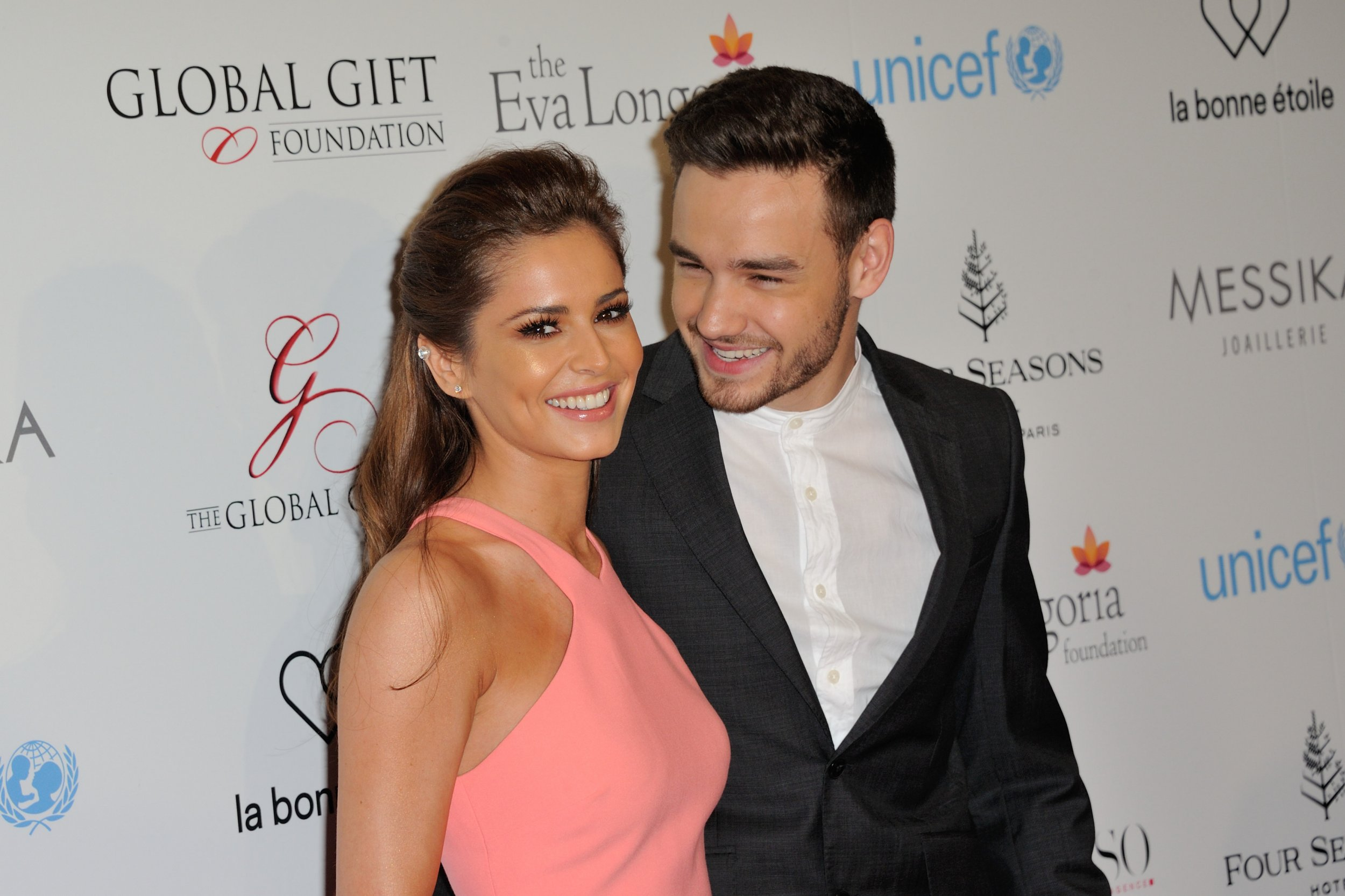 Cheryl Fernandez-Versini, Liam Payne attending the Global Gift Gala photocall at Four Seasons Hotel George V in Paris, France, on May 9, 2016. Photo by Alban Wyters/ABACAPRESS.COM