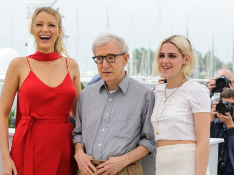 Someone told a rape joke about Woody Allen and Blake Lively was unimpressed