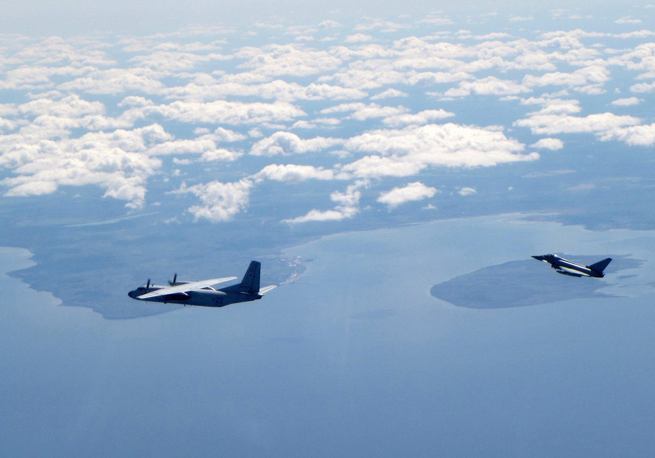 RAF jets intercept five Russian planes near Estonian border