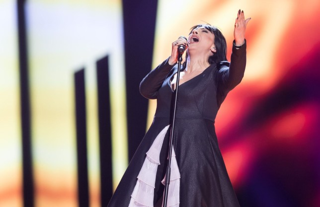 "Mandatory Credit: Photo by Rolf Klatt/REX/Shutterstock (5682998b) Kaliopi of Macedonia performs her song ""Dona"" at the second semi-final show of the Eurovision Song Contest 2016 in Stockholm, Sweden on May 12, 2016. Eurovision Song Contest, Semi Finals, Stockholm, Sweden - 12 May 2016"