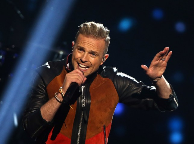 STOCKHOLM, SWEDEN. MAY 12, 2016. Singer Nicky Byrne representing Ireland performs during the 2nd Semi Final of the 61st annual Eurovision Song Contest at the Ericsson Globe in Stockholm, Sweden. Vyacheslav Prokofyev/TASS (Photo by Vyacheslav ProkofyevTASS via Getty Images)