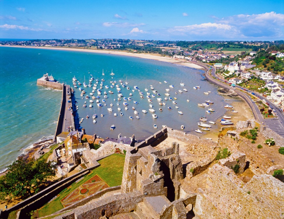 View from Orgueil castle, jersey.