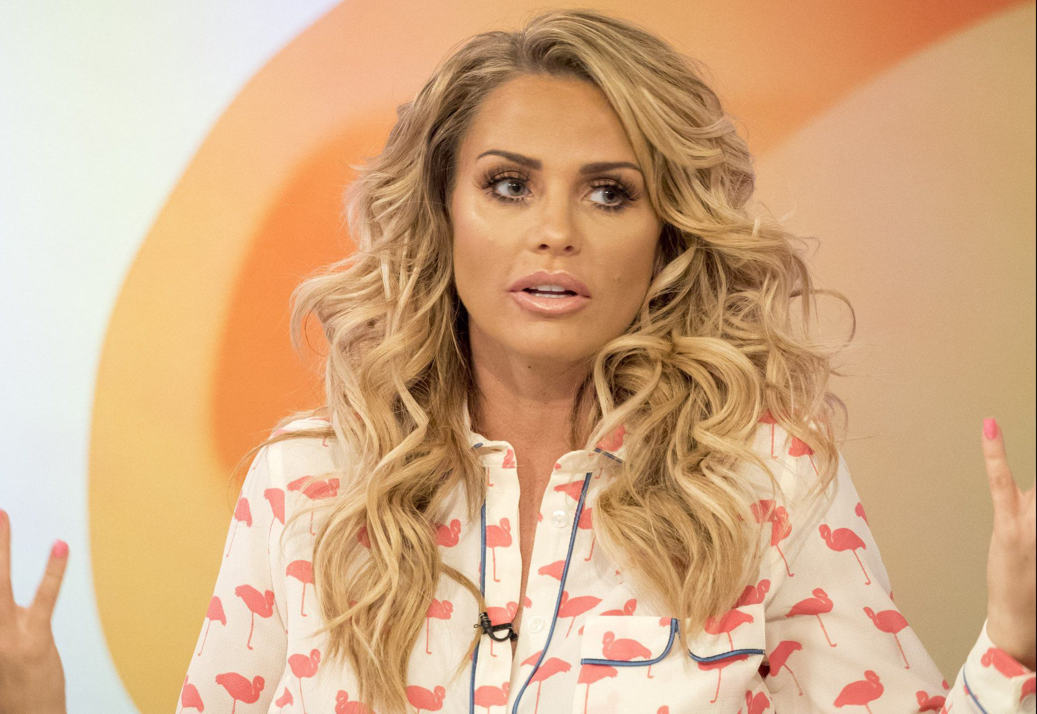 EDITORIAL USE ONLY. NO MERCHANDISING Mandatory Credit: Photo by Ken McKay/ITV/REX/Shutterstock (5685327am) Katie Price 'Loose Women' TV show, London, Britain - 16 May 2016