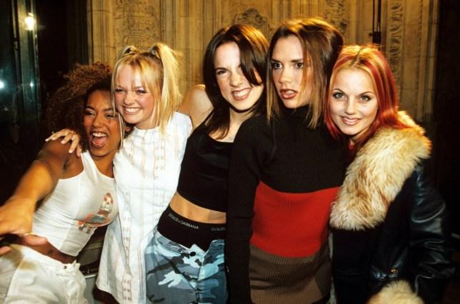 Mandatory Credit: Photo by Richard Young/REX/Shutterstock (264386bs) Spice Girls - Mel B, Emma Bunton, Mel C, Victoria Adams and Geri Halliwell NATIONAL TELEVISION AWARDS, LONDON, BRITAIN - 1996