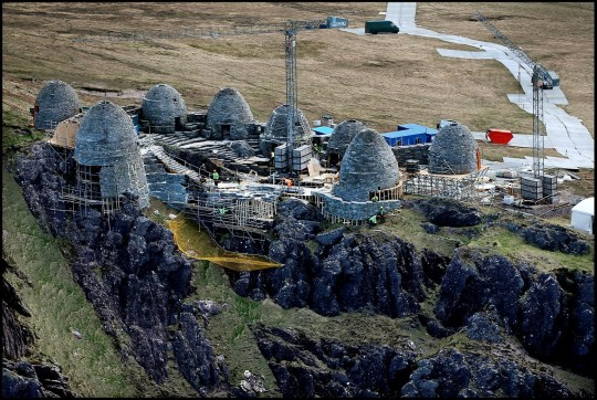 EXCLUSIVE ALL ROUNDER An ancient Jedi style temple nears completion in Kerry ahead of the filming of Star Wars Episode VIII Please byline: Vantagenews.com
