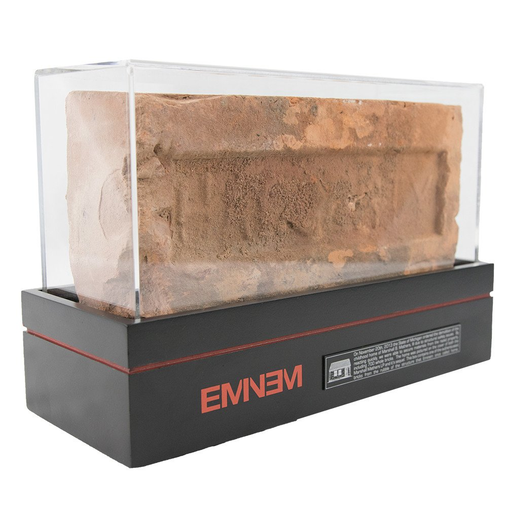 Eminem has been selling bricks from his house to mark the anniversary of the Marshall Mathers LP