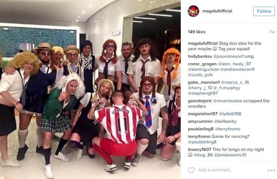 Party firm advertises Magaluf with Adam Johnson themed stag do
