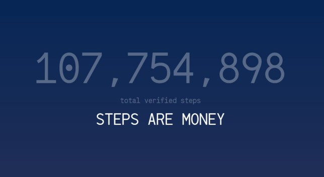 This app wants to pay you to get fit Credit: Sweatcoin
