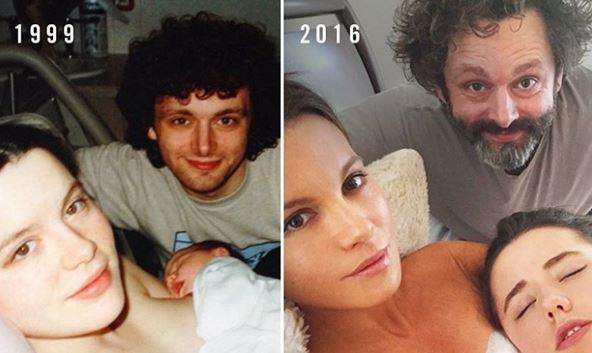 Kate Beckinsale recreates picture at daughter's birth with ex Michael Sheen