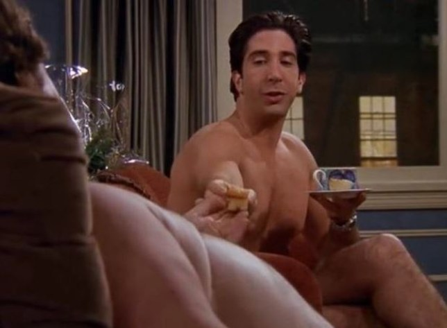Ugly Naked Guy got to hang out with Ross (Picture: NBC)